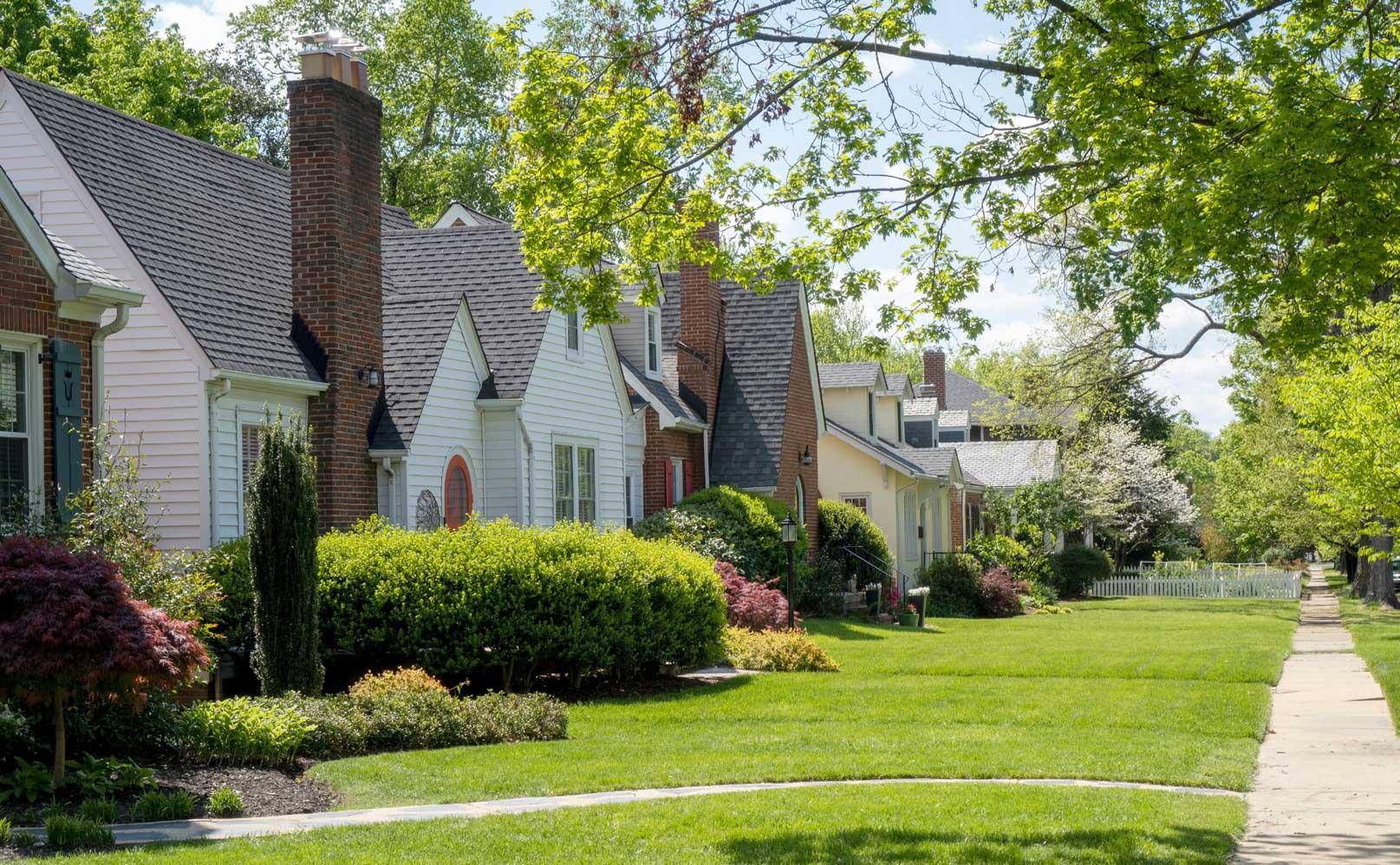 neighbourhood with homes for sale